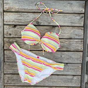 Victoria's Secret Striped Bikini Set